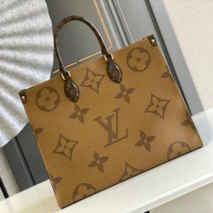 💯LouisVuitton💯 GM Onthego Limited Large Tote Brown
